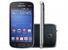 "Smartphone Samsung Galaxy Trend Lite Duos 3G - Android 4.2 Câm 3MP Tela 4"" Wi-Fi GPS Acelerômetro"
