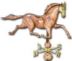 Jumbo Horse 3-D Copper Weathervane