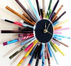 CIJ SALE Paper Rainbow Clock  Ready To Ship by Shannybeebo on Etsy