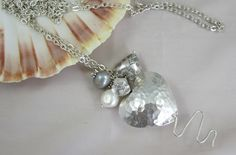Bea. Fine silver pearl pendant, £45.00