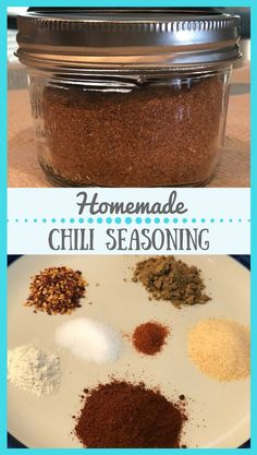 Homemade Chili Seasoning Mix with no preservatives or ingredients that you can not pronounce. Homemade Chili Seasoning, Chili Seasoning Mix, Homemade Spices, Homemade Seasonings, Jelly Recipes, Soup Recipes, Chili Recipes, Quesadillas, Enchiladas