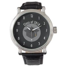 Graduation Cap on Black Class of 20xx Watch - stylish gifts unique cool diy customize