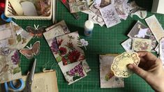 Collaging paper, making tags and journaling cards Part 2 Vintage Tags, Vintage Birds, Altered Books, Altered Art, Creation Crafts, Vintage Birthday Cards, Journal Cards, Junk Journal, Collage Design
