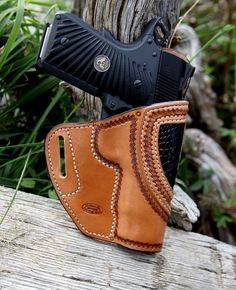 Click this image to show the full-size version. Leather Art, Classic Leather, Custom Leather, Leather Tooling, Leather Wallet, 1911 Leather Holster, Kydex Holster, Pancake Holster, Custom Holsters