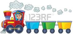 lokomotywa%3A+Poci%C4%85g+z+trzech+pustych+wagon%C3%B3w+Ilustracja