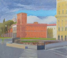 Anthony Lombardi  Piazza Venezia Roma 2017 oil on canvas 60 x 70 cm