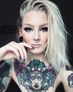 Katrin Berndt  #girl tattoos #tattoos #tattoo ideas #tattoo ink #sleeve tattoos