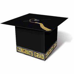 Grad Cap Money Card Holder, Black