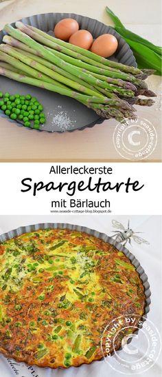 Rezept für eine sehr leckere vegetarische Spargeltarte....mmmhhh....yummy www.seaside-cottage-blog.blogspot.de