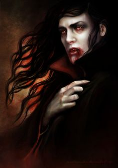 Vampire by martaemilia. Does he not seem tormented and beautiful all at once? I have a companion he reminds me of...~ Lilith