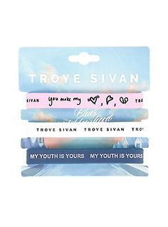 Troye Sivan Lyrics Rubber Bracelet 3 Pack,