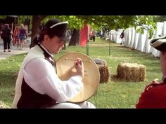 Revolutionary War Music....penny whistle and bodhran  ...You can really watch the stroke and see how to deepen and mute the sounds ******the music isn't bad either*