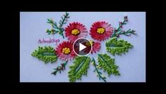 Hand Embroidery Designs Stitch and Flower Brazilian Embroidery Stitches, Basic Embroidery Stitches, Hand Embroidery Flowers, Embroidery Needles, Hand Embroidery Designs, Embroidery Kits, Cross Stitch Embroidery, Needle Tatting Tutorial, Woolen Flower