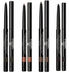 Chanel Les Automnales Fall 2015 Collection - Chanel Stylo Yeux Waterproof Eyeliner      914 Feuilles – green dark khaki  /   918 Ardent – gilded copper (Limited Edition)  /   919 Erable – metallic bronze  /   921 Pomme De Pin – brown black