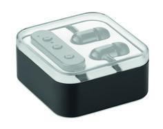 Auriculares Bluetooth 4.2 con micrófono incorporado, presentado en caja. Batería recargable Li-ION 55 mAh.