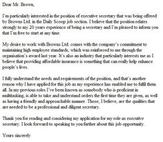 here is an example of a well written cover letter