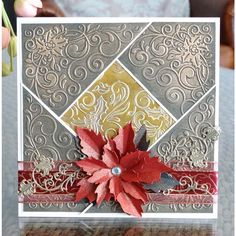 Tattered Lace Embossing Folder - Holly Flourish