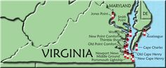 virginia lighthouses | lighthouse name or icon for more information on that lighthouse