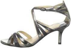 Low-heeled metalic sandals | Ivanka Trump 'Emeralio3' Sandal in Silver (pewter) - Lyst