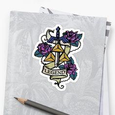 Tattoo-style Legend of Zelda sticker.  Neat!  #zelda