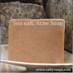 """Acne soap with sea salt and turmeric """"face It"""" bar"""