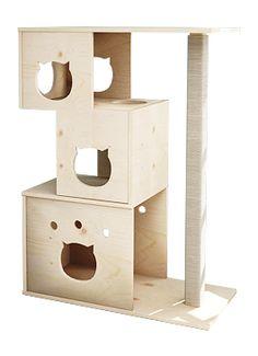 NO.107 원목 고양이 스크래쳐 캣타워 - 원목이 주는 자연의 감성을 전하는 위드인디자인에 오신것을 환영합니다.