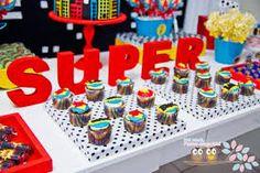 superhero girl birthday party cupcakes - Google Search