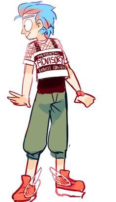 ttoba's Art Blog — Putting Ricku senpai in clothes I wore today! yEAH