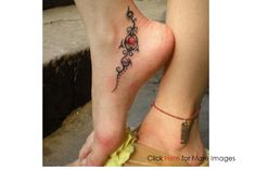 Women Ankle Tattoo Image