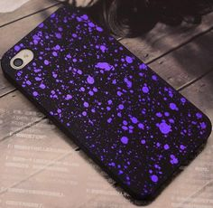Fashion Starry Sky Effect Hard Plastic Back Cover Case For iPhone 4 4S Phone Shell Pretector Case