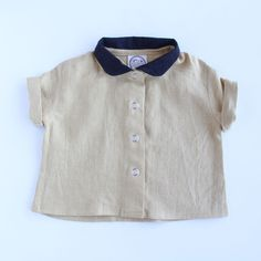 Red Creek Handmade Short Sleeve Workshirt in Harvest Gold and Black / www.littleheirloom.com