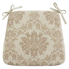 Damask Dining Cushion - Sand