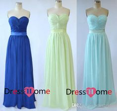 Wholesale 2014 Bridesmaid Dresses - Buy 2014 Hot Selling Cheap Bridesmaid Dresses Criss Cross Sweetheart Neckline A-Line Sashes Floor-Length Chiffon Formal Evening Gowns, $33.85 | DHgate
