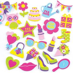 Buy Mother's Day Foam Stickers at Baker Ross. Delightful Mother's Day foam stickers for crafts, card making and decoration. Mothers Day Crafts, Crafts For Kids, Arts And Crafts, Children Crafts, Picture Collage Crafts, Pop Out Cards, Flower Pot Crafts, Scratch Art, Pinterest Crafts