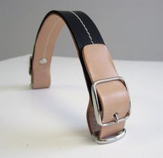 Leather handle tan & black with two buckles for by HandlesForAll
