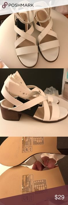 Forever 21 Sandals Brand new! Size: 5.5; blocked wooden heel Forever 21 Shoes Sandals