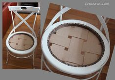 Réfection de chaises anciennement cannées.