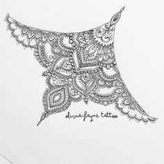 Sternum design for Karina (all designs are subject to copyright. None are for sale. To order your own custom design please visit my website or email- both in bio) #mandala #mehndi #sternumtattoo #underboobtattoo