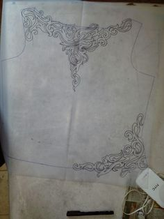 western gown Mexican Embroidery, Hand Work Embroidery, Embroidery Motifs, Shirt Embroidery, Embroidery Fashion, Hand Embroidery Designs, Ribbon Embroidery, Machine Embroidery, Dress Design Drawing