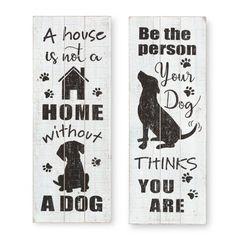 Wooden Wall Decor, Wall Decor Set, Dog Signs, Wall Signs, Animal Signs, Animal Decor, Dog Room Decor, Dog Bedroom, Bedroom Ideas