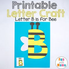 Are you looking for letter B crafts? This Printable B is for Bee Letter Craft activity is perfect for toddlers and preschoolers. Not only are my free printable letter crafts fun they also work those fine motor skills too! Add these printable letter crafts to your letter of the week preschool curriculum for more themed fun. Printable Letter B Crafts: B is for Bee The great thing about these cut and paste letter activities is that they require minimal materials. You probably have most of these…
