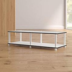 Ebern Designs Lapidge TV Stand for TVs up to 43 inches Colour: White Living Room Sofa, Living Room Furniture, Home Furniture, Office Furniture, Open Shelving, Adjustable Shelving, Tv Stand Set, Cool Tv Stands, Entertainment Center