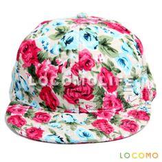Women Rose Flower Floral Blossom Vintage Snapback Cap Beige