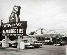 1955 yeah we hung out at the Shoney's with the car hops we didn't have malls back then