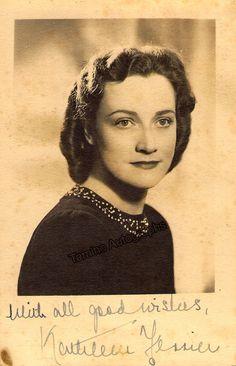 Ferrier, Kathleen - Signed Photo