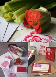 Homemade rose stamp