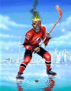 Eddie plays hockey now??! Yaaaaasss