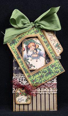 Graphic 45 Christmas tag