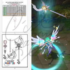 Cosplay PDF Vector Pattern Blueprint Star Guardian Soraka