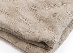 Linen chevron blanket made in the USA by Brahms Mount of Maine